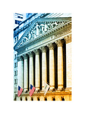 The New York Stock Exchange Building, Wall Street, Manhattan, NYC, White Frame, Colors Photography Photographic Print by Philippe Hugonnard