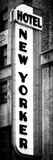 Hotel New Yorker, Signboard, Manhattan, New York, Vertical Panoramic View Photographic Print by Philippe Hugonnard