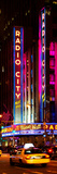Radio City Music Hall and Yellow Cab by Night, Manhattan, Times Square, New York City Photographic Print by Philippe Hugonnard