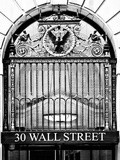 Nysc 30 Wall Street Building, Financial District, Manhattan, NYC, USA, Black and White Photography Stampa fotografica di Philippe Hugonnard