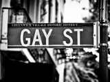 Urban Sign, Gay Street, Greenwich Village District, Manhattan, New York, USA Photographic Print by Philippe Hugonnard