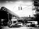Urban Scene, Coney Island Av and Subway Station, Brooklyn, Ny, US, USA, Old Photographic Print by Philippe Hugonnard