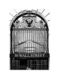 Nysc 30 Wall Street Building, Financial District, Manhattan, NYC, White Frame Photographic Print by Philippe Hugonnard
