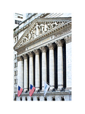 The New York Stock Exchange Building, Wall Street, Manhattan, NYC, White Frame Photographic Print by Philippe Hugonnard