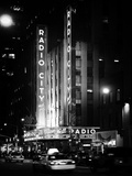 Radio City Music Hall and Yellow Cab by Night, Manhattan, Times Square, NYC, Old Classic Photographic Print by Philippe Hugonnard