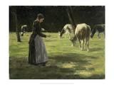 Kuhhirtin, 1890/98 Art by Max Liebermann