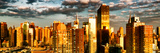 Architecture and Buildings, Sunset, Midtown of Manhattan, Times Square and 42 Street, New York Photographic Print by Philippe Hugonnard