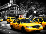 Yellow Cabs, 72nd Street, IRT Broadway Subway Station, Upper West Side of Manhattan, New York Photographic Print by Philippe Hugonnard