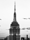 Top of Empire State Building, Manhattan, New York, United States, Black and White Photography Photographic Print by Philippe Hugonnard