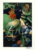 Le Cheval Blanc Prints by Paul Gauguin