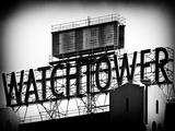 The Watchtower, Jehovah's Witnesses, Brooklyn, Manhattan, New York, Black and White Photography Fotografisk tryk af Philippe Hugonnard