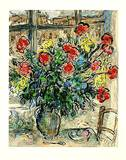 Strauss vor Fenster, steinsigniert Reproduction pour collectionneur par Marc Chagall