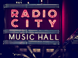 Lanes Entrance to the Radio City Music Hall by Night, Manhattan, Times Square, New York Photographic Print by Philippe Hugonnard