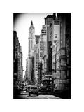 Urban Scene, 401 Broadway, Soho, Manhattan, NYC, White Frame, Full Size Photography Photographic Print by Philippe Hugonnard