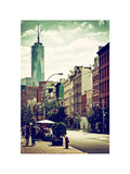 Urban Scene, Lover at Spring Street, One World Trade Center View (1WTC), Lower Manhattan, New York Photographic Print by Philippe Hugonnard