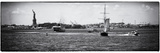 Panoramic View of the Statue of Liberty and Boats on East River, Manhattan, New York Photographic Print by Philippe Hugonnard
