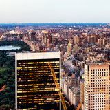 Central Park with East Harlem and Upper East Side Manhattan Views at Sunset, New York Photographic Print by Philippe Hugonnard
