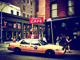 Urban Scene, Yellow Taxi, Prince Street, Lower Manhattan, New York City, United States, Vintage Photographic Print by Philippe Hugonnard
