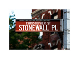 Urban Sign, Christopher Street and Stonewall Place, Greenwich Village District, Manhattan, New York Photographic Print by Philippe Hugonnard