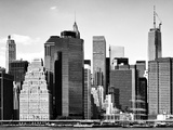 Skyline Manhattan Buildings with One World Trade Center, East River, NYC Photographic Print by Philippe Hugonnard