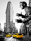 Flatiron Building, Style, Fine Art, American Art, NYC, United States Photographic Print by Philippe Hugonnard