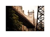 Ed Koch Queensboro Bridge (Queensbridge) View, Manhattan, New York, Vintage, White Frame Photographic Print by Philippe Hugonnard