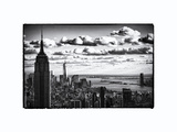 Skyline with the Empire State Building and the One World Trade Center, Manhattan, New York City Photographic Print by Philippe Hugonnard