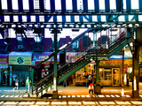 Subway Station, Williamsburg, Brooklyn, New York, United States, Night and Day Photographic Print by Philippe Hugonnard
