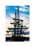 """El Galeon"" at Sunset, Authentic Replica of 17th Century Spanish Galleon, Pier 84, New York Photographic Print by Philippe Hugonnard"