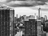 Skyline Manhattan Buildings with One World Trade Center, NYC, US, Black and White Photography Photographic Print by Philippe Hugonnard