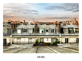 Rooftops View, Frame White, Sacre-Cœur Basilica, Paris, France Photographic Print by Philippe Hugonnard