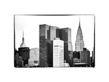 Empire State Building and Chrysler Building Tops, Manhattan, NYC, White Frame Photographic Print by Philippe Hugonnard