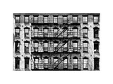 Building Facade in Red Brick, Stairway on Philadelphia Building, Pennsylvania, US, White Frame Photographic Print by Philippe Hugonnard