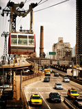 Roosevelt Island Tram and Ed Koch Queensboro Bridge (Queensbridge) Entry View, Manhattan, New York Photographic Print by Philippe Hugonnard