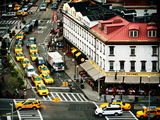 Urban Scene, Taxi and the Diner Restaurant, Chelsea Rooftop, Meatpacking District, New York, US Photographic Print by Philippe Hugonnard