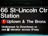Subway Sign at Times Square, 66 Street Lincoln Station, Manhattan, New York City, USA Photographic Print by Philippe Hugonnard