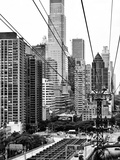 Roosevelt Island Tram Station (Manhattan Side), Manhattan, New York, Black and White Photography Photographic Print by Philippe Hugonnard
