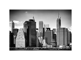 Skyline Manhattan Buildings with One World Trade Center, East River, NYC, White Frame Photographic Print by Philippe Hugonnard