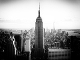 Downtown at Sunset, Empire State Building and One World Trade Center (1WTC), Manhattan, New York Photographic Print by Philippe Hugonnard