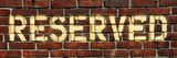 """Panoramic, Street Tag """"Reserved"""" on an Old Red Brick Wall, Philadelphia, Pennsylvania, US Photographic Print by Philippe Hugonnard"""