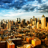 Manhattan at Sunset, Hell's Kitchen and Theater District Views, New York Photographic Print by Philippe Hugonnard