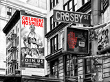 "Urban Scene, Wall Advertising ""Childrens Hospital"", Crosby Street, Broadway, Manhattan, NYC Colors Photographic Print by Philippe Hugonnard"