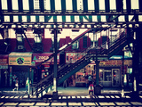 Subway Station, Williamsburg, Brooklyn, New York, United States, Vintage Photographic Print by Philippe Hugonnard