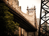 Ed Koch Queensboro Bridge (Queensbridge) View, Manhattan, New York, United States, Vintage Impressão fotográfica por Philippe Hugonnard