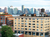 Rooftops at Chelsea, View of Hoboken and Hudson River, Manhattan, Meatpacking District, New York Photographic Print by Philippe Hugonnard