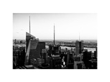 NYC Skyline at Sunset, Architecture and Buildings, Skyscraper, Manhattan, New York, White Frame Photographic Print by Philippe Hugonnard
