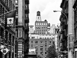 Architecture and Buildings, Greenwich Village, Nyu Flag, Manhattan, NYC Photographic Print by Philippe Hugonnard