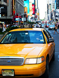 New York Taxi, Times Square, Manhattan, United States Photographic Print by Philippe Hugonnard