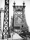 "Road Traffic Exit on ""59th Street Bridge"" (Queensboro Bridge), Manhattan Downtown, NYC Photographic Print by Philippe Hugonnard"