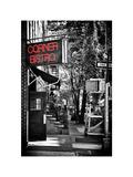 Urban Scene, Corner Bistro, Meatpacking and West Village, Manhattan, New York Fotografisk trykk av Philippe Hugonnard